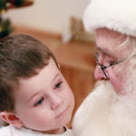 Sit on Santa's lap at the Santa Claus Christmas Store to make your case for the Good List.