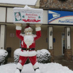 The only post office in the world with Santa's name sees over 400,000 pieces of mail in December.