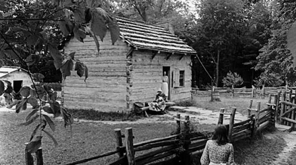 Living Historical farm black and white picture guest post