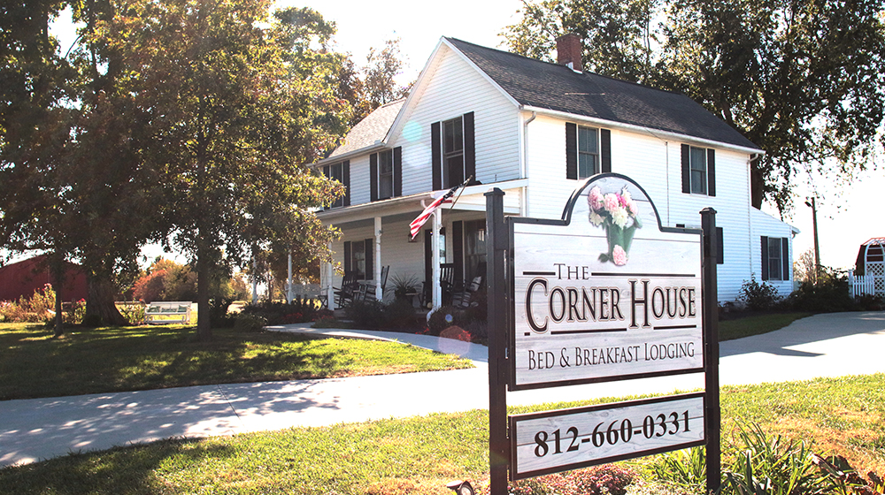 Corner House Bed and Breakfast Feature Photo Exterior Fall 2019