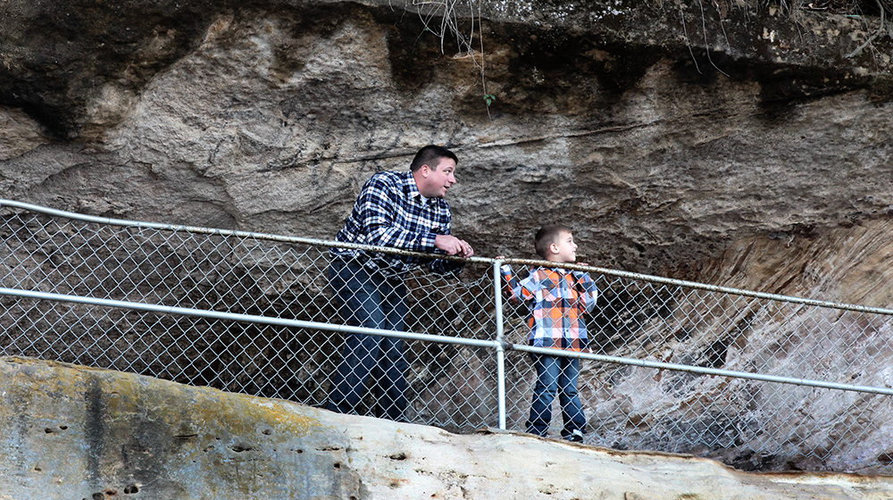Ohio river scenic byway father and son fall