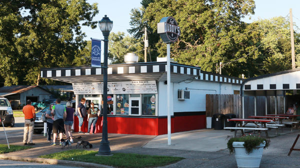 Fat Daddy's Grill & Chill restaurant with walk-up window and outdoor seating