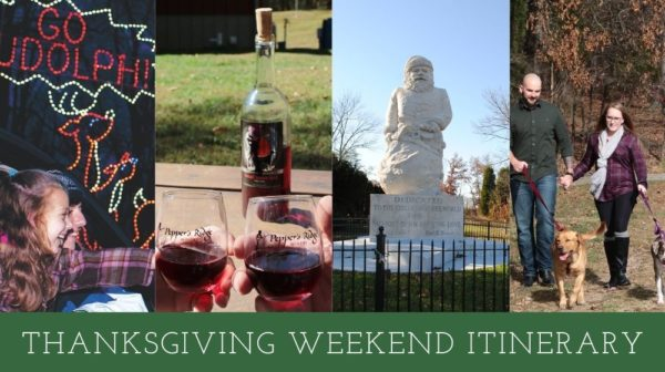 Activities at Santa Claus Land of Lights, Pepper's Ridge Winery, Historic Santa Statue, Lincoln State Park