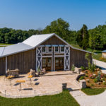 Aerial view of the barn at Matilda's Event Barn